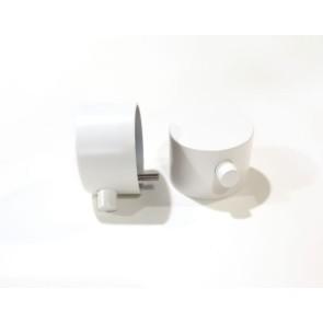 """Best-design paar bedieningsknop mat-wit thermostatisch/omstel tbv.""""white"""" art.4009180"""