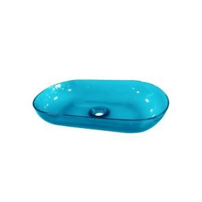"""Best-design opbouw-waskom color """"transpa-blue"""" 54x34x12cm"""