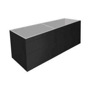"""Best-design """"beauty-140-mat-zwart greeploos"""" meubel onderkast 4-laden"""