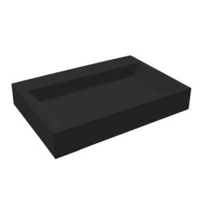 """Best-design """"nero-opera-60"""" wastafel """"just-solid"""" 60x42x10cm mat-zwart"""