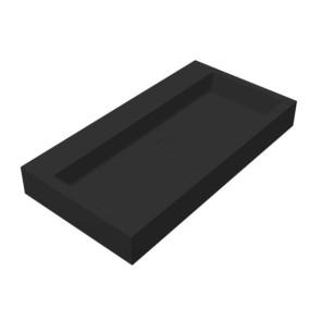 """Best-design """"nero-opera-80"""" wastafel """"just-solid"""" 80x42x10cm mat-zwart"""