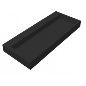 """Best-design """"nero-opera-100"""" wastafel """"just-solid"""" 100x42x10cm mat-zwart"""