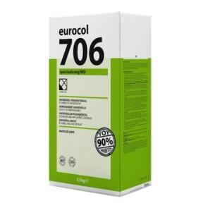 Eurocol voegproducten voegmaterialen x2,5 kg voegzilv.grijs 706 eur
