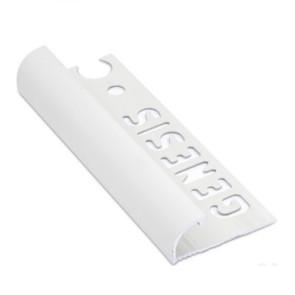 Tegelstrip eaq060.01 aluminium rond wit 6mm
