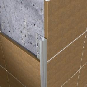 Tegelstrip eaq100.91 aluminium rond glans zilver 10mm