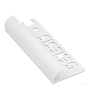 Tegelstrip eaq120.01 aluminium rond wit 12mm