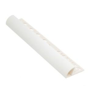 Tegelstrip etr108.01 kunststof rond wit 10mm