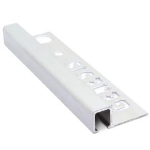 Tegelstrip tdg104.81 recht contour mat zilver 10mm