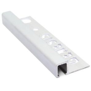 Tegelstrip tdg124.81 recht contour mat zilver 12mm