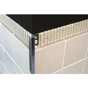 Tegelstrip tmg080.81 recht contour mat zilver 8mm