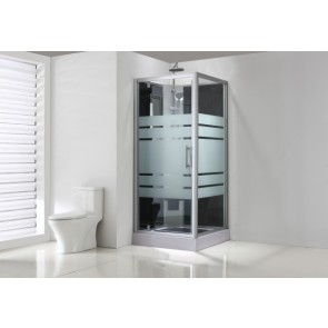 Thermo complete douchecabine 80x80x218 alu  5mm glas