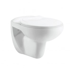 Wandtoilet eclips glans wit rimless inclusief wc bril