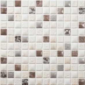 Tegel mosaico petra 13 creme bruin 30x30 cm