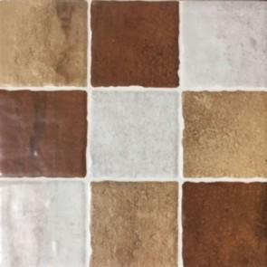 Tegels arezzo mosaico cotto 22,5x22,5cm