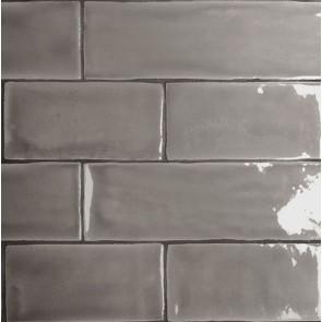 Tegel mayolica grey 7,5x15 cm