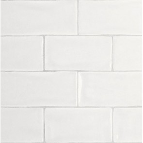 Tegels mayolica matt white 7,5x15 cm