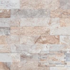 Tegel interlock farilya grijs bruin 25,0x45,0 cm