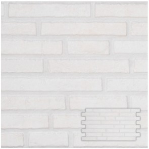 Tegel interlock harman white 25,0x45,0 cm