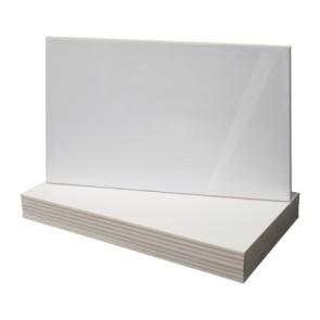 Tegels wit glans 25,0x50,0 cm