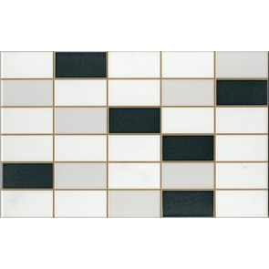 Tegels softline wit/grijs/antra mozaiek 25,0x40,0 cm