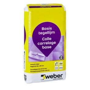 Tegellijm weber tile basic 20 kg
