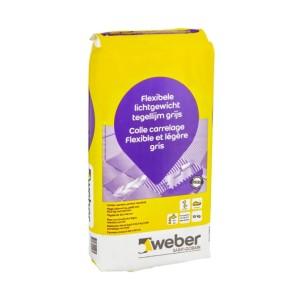 Tegellijm weber tile light 15 kg