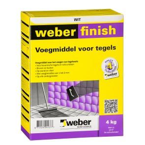 Voegmiddel weber finish wit 4 kg