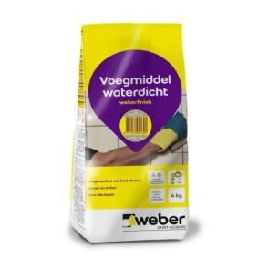 Voegmiddel weber finish lichtgrijs 4 kg