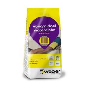 Voegmiddel weber finish grijs 4 kg