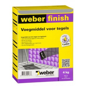 Weber wd finish perfect grijs 4 kg