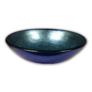 Modello waskom glas lavabo tre blu