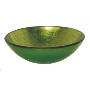 Modello waskom glas lavabo tre verde