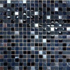 Mozaiek 15mm edel schwarz 30x30cm