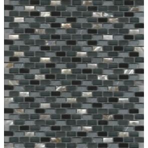 Mozaiek mos miniperla black 30x30cm
