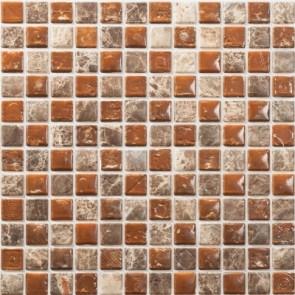Tegels mosaico petra 03 bruin 30x30 cm