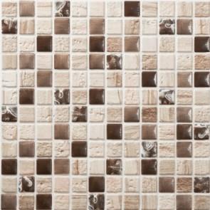 Tegel mosaico petra 16 beige bruin 30x30 cm