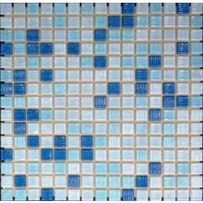 Mozaiek glas a31/32/33 lichtblauw 2,0x2,0x0,4 zwembad