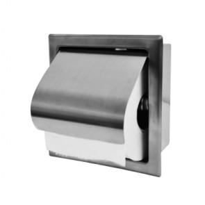 InWall inbouw toiletrolhouder RVS
