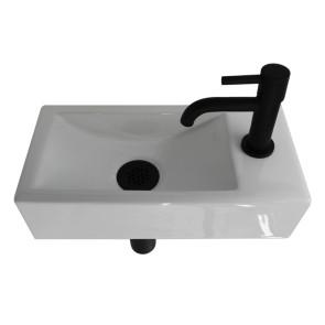 Fonteinset brussel keramisch 9x18x36cm zwart/wit