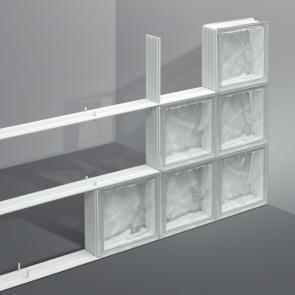Snelbouwsysteem glazen bouwstenen