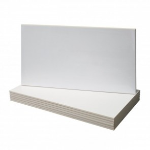 Tegel glans wit 30,0x60,0cm