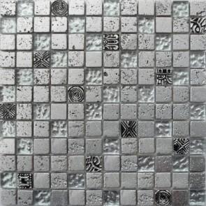 Mozaiek bonito bo.003 silver 2,3x2,3x0,8