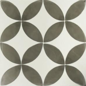 Tegel marrakesch circeldekor grijs 20x20x1,5