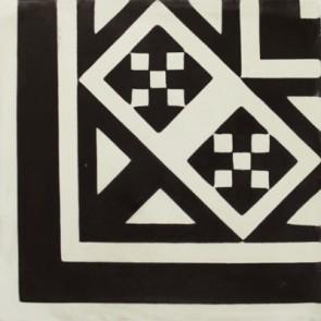 Tegels kashba hoekdecor zwart 20x20x1,5
