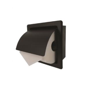 Inwall inbouw toiletrolhouder rvs mat zwart