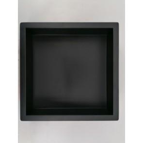 InWall inbouwnis 30x30x7cm rvs mat zwart