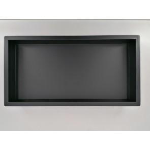 InWall inbouwnis 30x60x7cm rvs mat zwart