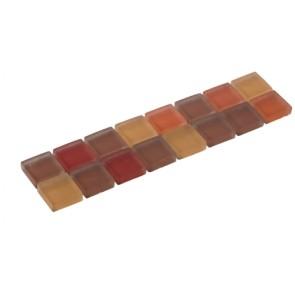 Listello silk oranje glas 4,8x19,5