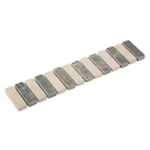 Listello stick bianco/nero 4,7x23,5