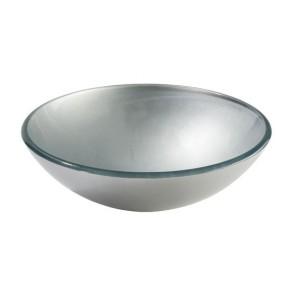 Modello waskom glas tre zilver